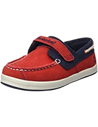 Timberland Dover Bay H&l Boathaute Red with Sapphire, Mocasines para Bebés
