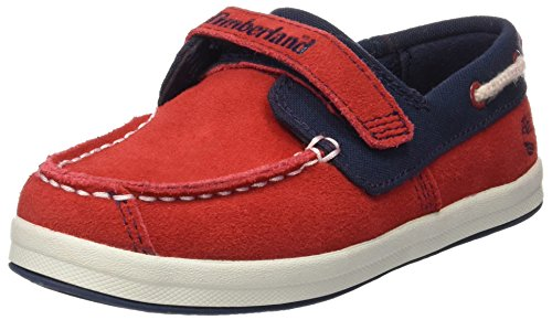 Timberland Unisex Baby Dover Bay H&L Boathaute Lauflernschuhe, Mehrfarbig (Haute Red with Sapphire), 27 EU
