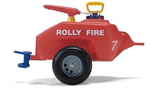 Rolly Toys 122967 rollyVacumax Fire | Anhänger / Tanker befüllbar, inkl. Pumpe mit Spritze und Auslaufhahn | Feuerwehr Fassanhänger voll funktionstüchtig | ab 3 Jahren | Farbe rot