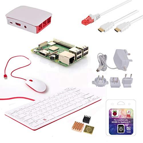 Raspberry Pi 3 Modell B+ - Premium Desktop Starter Kit, weiß Pi Kit