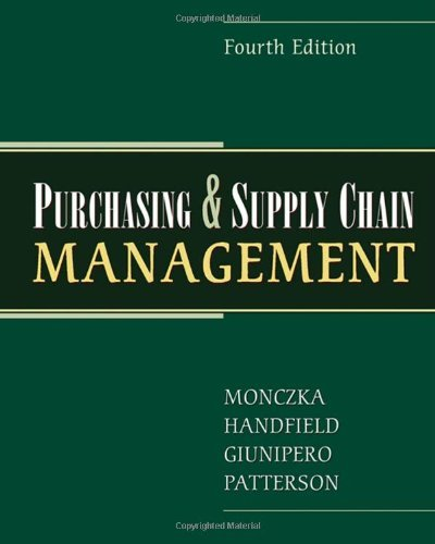 Purchasing and Supply Chain Management by Robert M. Monczka (2008-07-23)
