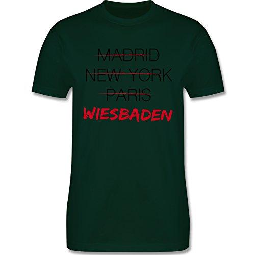 Städte - Weltstadt Wiesbaden - Herren Premium T-Shirt Dunkelgrün