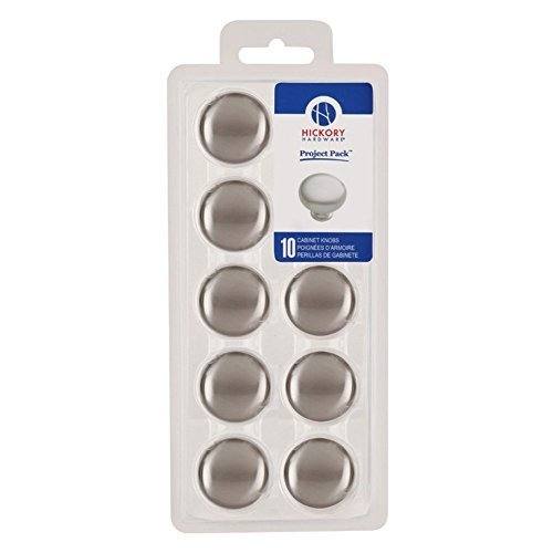 Hickory Hardware VPA1218-SN Project Pack 1-1/4-Inch Cabinet Knob, Satin Nickel by Hickory Hardware -