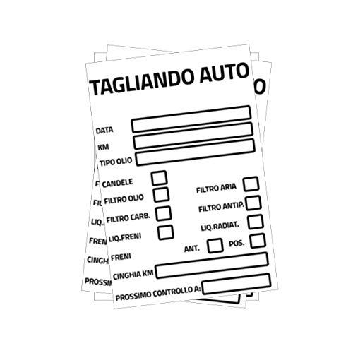 SGMStore Adesivi Tagliando Auto Cambio Olio Etichetta Adesivo in PVC Impermeabile (25)