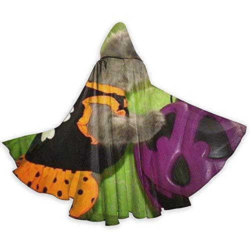 Erwachsene Kitty Kostüm - BYME Erwachsenen Mantel Unisex Halloween Kostüm