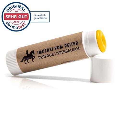 Propolis Lippenbalsam vom Reiter, Lippenpflegestift dermatologisch getestet,