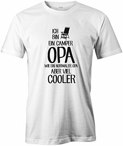 Ich bin ein Camper Opa - Wie ein normaler Opa aber viel cooler - Herren T-SHIRT by Jayess Weiß