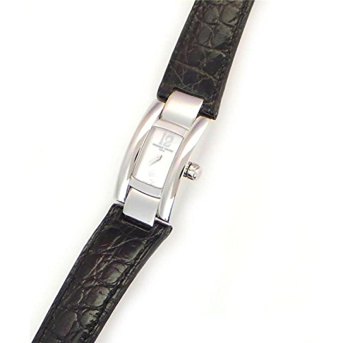 Frederique Constant Women's f203032 Quartz Watch (Rechargeable) quandrante Steel Mother of Pearl Leather Strap