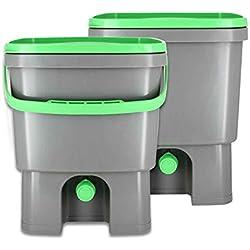 Organico Bokashi Cubo para residuos de cocina - set de 2, para microorganismos
