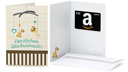Amazon.de Grußkarte mit Geschenkgutschein - 20 EUR (Glückwunsch zur Geburt)