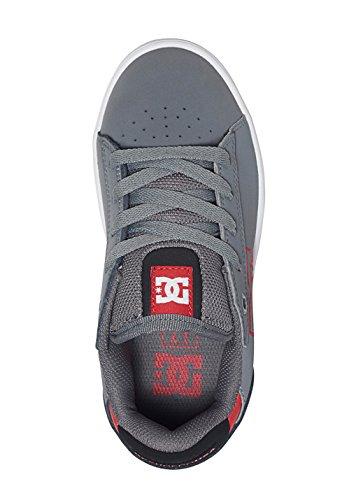 DC Shoes Mädchen Chelsea Stud Sneaker, Grau grey/black/red