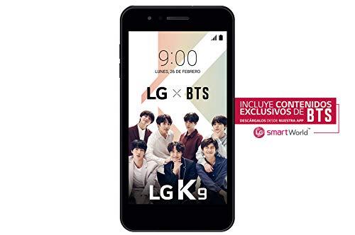"""LG K9 - Smartphone de 5"""" (Qualcomm MSM8909 Quad Core 1.3 GHz, 16 GB de Memoria, 2 GB RAM, Micro SD hasta 32 GB, cámara Plus 8MP) Negro"""