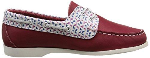 TBS Pietra, Chaussures Bateau Femme Rouge (Rubis)
