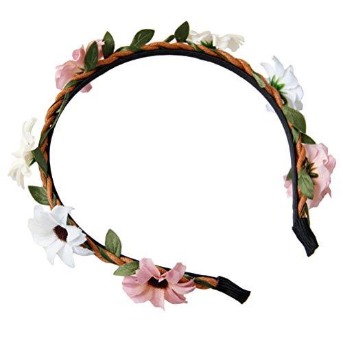 Lurrose Blumenstirnband Blumenhaarbänder Nette Haarbänder für Brautmädchen Frauen Hochzeit Geburtstag Haarschmuck Liefert Geschenke (Begünstigt Girls Partei)
