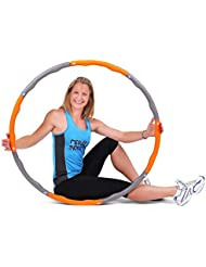 ResultSport® Level 2 Wave Weighted 1.5kgs (3.30lbs) Fitness Exercise Hula Hoop - Orange/Grey