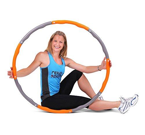 ResultSport® schaumgepolsterter WAVE Level 2 Hula Hoop Reifen für Fitnessübungen, mit 1,5 kg Gewicht und 100 cm Durchmesser