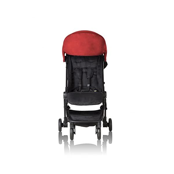 """Mountain Buggy Nano V2 - Ruby Mountain Buggy Ultra compact size at just 54cm/22"""" wide and with a compact fold down size of 54cm/22"""" (w) x 30cm/12"""" (d) x 51.5cm/20"""" (h): nano fits inside its own custom made satchel and is now: even more airline ready. Ultra Leight weighing in at 5.9kg / 13lbs: nano meets the standard weight restriction for carry on luggage on planes Full Lie Flat Solution for newborn - adaptability with the use of the soft shell cocoon carrycot (an additional accessory) 2"""