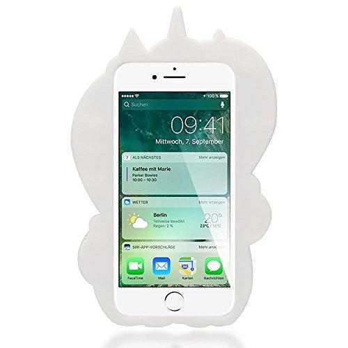 iPhone 8 / 7 3D Hülle Handyhülle von NICA, Dünnes Silikon Cartoon-Case Cover Stoßfeste Anti-Rutsch Schutzhülle, Backcover Handy-Tasche Bumper Phone Etui für Apple iPhone-7 / 8, Designs:Boys Tears Unicorn