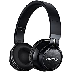 Mpow Thor, Auriculares de Diadema Casco Bluetooth Inalámbrico con Micrófono Casco Plegable Headphone Bluetooth Manos Libres y Cable de Audio para Apple iPhone 7Plus, 6s, 6 Samsung Sony Huawei Movil, PC, Mac y TV
