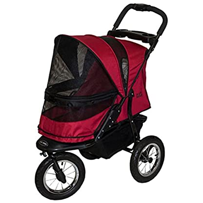 Pet Gear Jogger No-Zip Stroller, Rugged Red 8