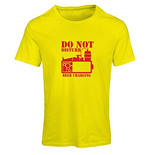 Maglietta Donna Carica di birra - camicie alcoliche, abiti da bar, per festa Giallo Rosso