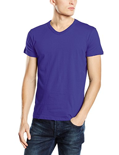 Stedman Apparel Herren T-Shirt Ben (V-Neck)/st9010 Premium Violett - Purple (Deep Lilac)