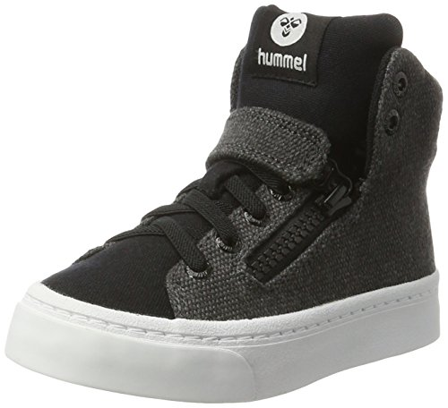 Hummel Unisex-Kinder Stadil Zip Jr High-Top Schwarz (Black)
