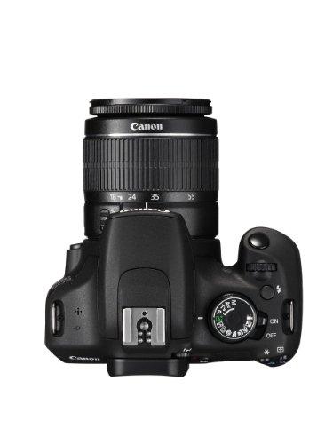 """Canon EOS 1200D - Cámara réflex digital de 18 Mp (pantalla 3"""", USB, HDMI, Autoenfoque), color negro - kit cuerpo con lente EF-S 18-55 DC III"""