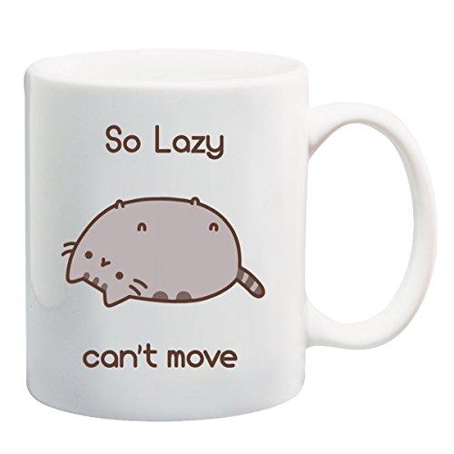 Pusheen so Lazy non possono Move Maglietta Tazza