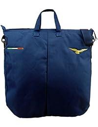 Bolsa porta casco de Volo azul bordado con águila Piloto Civile y banderín italiana