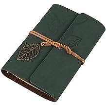 westeng agenda de piel y Block Retro cuaderno de bolsillo Calepin de papel de estraza