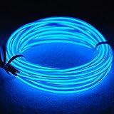 3m Flessibile EL Neon Condotto 3 modalità controllore Trasformatore brillante Elettroluminescente Mucchio Per sera, partito, Matrimonio, Automobile,Ditta(Blu)