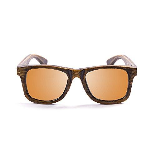 OCEAN SUNGLASSES - wood Victoria - lunettes de soleil polarisÃBlackrolles en Bambou - Monture : Noir - Verres : Revo Orange (53002.2)