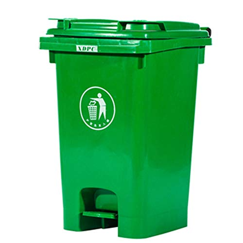 Yhjklm 60L Große Kapazität Mülleimer Rechteckige Küche Schritt Mülleimer Grün Papierkorb Mülleimer Mit Deckel Für Büro Bad Street Party Mall (Farbe : C2*1pc, Größe : 60L) (Mülleimer Küche Groß Schritt)