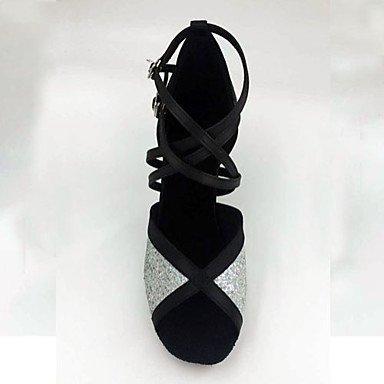 Scarpe da ballo-Non personalizzabile-Da donna-Balli latino-americani-A stiletto-Paillette-Argento Silver