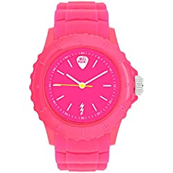 Ibiza Rocks Irock Unisex Quartz Watch with Pink Dial Analogue Display and Pink Plastic Strap 0.93.0501