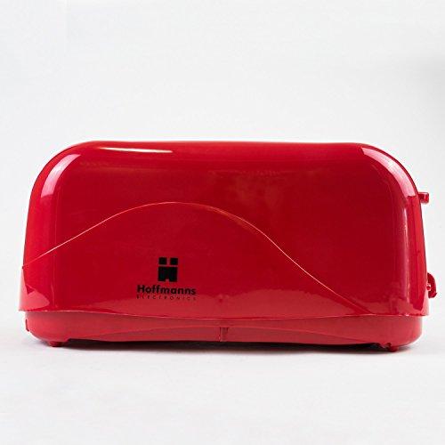 Grille-pain longue fente Grille-Pain 4Tranches avec 7niveaux de brunissage Rouge Noir Blanc Rouge