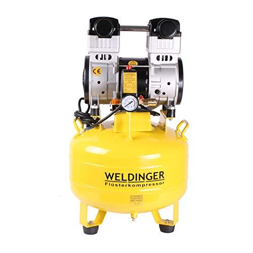 WELDINGER Flüsterkompressor FK 150 up 35 l Tank 1200 W (Silent Kompressor Kolbenkompressor) (Kompressor Kolbenring)