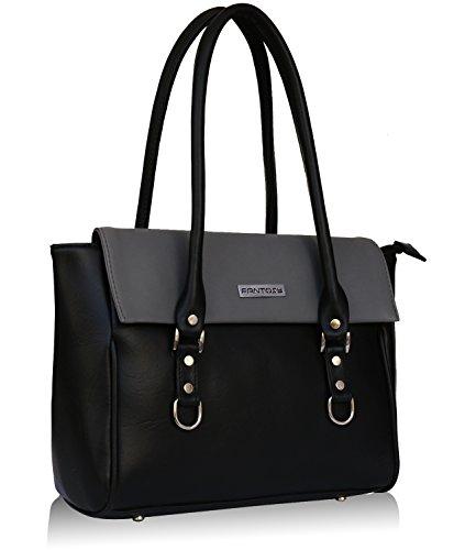 Fantosy Black and Grey women shoulder bag (FNB-728) (Black and Grey)