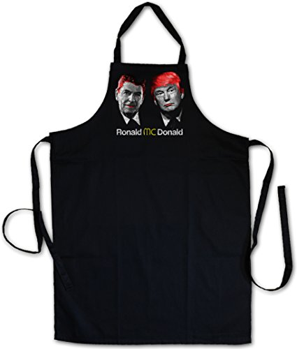 RONALD VS. DONALD KOCHSCHÜRZE- Regan USA Trump President Fast Food America Great Again Anti Culture Stars Stripes US Banner Gay Disco Nerd Hipster Fun Pop Art Warhol Style Comedy Clown (Pop-hipster)