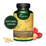 Coenzima Q10 + Vitaminas C + E + Zinc Vegavero | COMBINACIÓN ÚNICA |...
