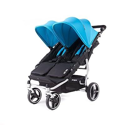 Baby Monsters- Silla Gemelar Easy Twin 3.0.S ( Silver ) - Color Turquesa+ REGALO de un bolso de polipiel (capota normal) Danielstore