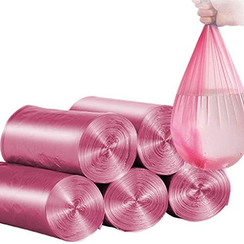 GUOE-YKGM Haushalt Müllsack Pedal Bag Kleine Box Heavy Duty Rechteckige Box Kein Griff Müllsack Müllsack Müllsack Müllsack PE Lebensmittel Müllsack Müllsack (Größe: 45 * 50cm) (Farbe : Rosa)