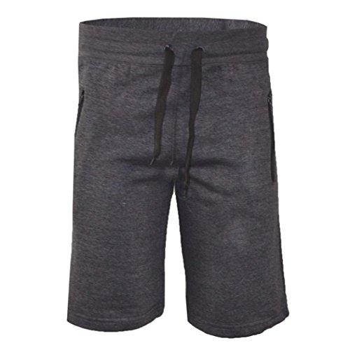 Malloom® Mode Mann Herren beiläufige Taschen Strand Arbeits zufällige Kurze Hosen-Kurzschluss Hosen für Sport Uhrlaub Freizeit - Schwarze Krepp-kleid