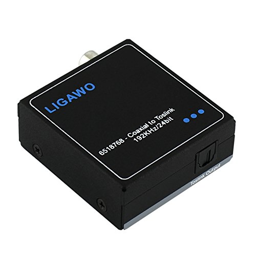 Ligawo 6518768 Digitalwandler SPDIF elektrisch Koax zu optisch Toslink (Phillips-surround-sound-system)