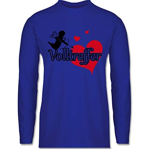 Shirtracer Valentinstag - Volltreffer - L - Royalblau - BCTU005 - Herren ()