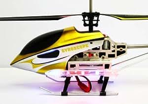 FALCON XV - Großer Gyro R/C - 3 Kanal Helikopter - 40cm - in gold- OUTDOOR-EASY FLY- - Hubschrauber flugfertig - Modell 8905