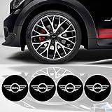 4 x 65mm Diameter Wheel Cap Sticker Self Adhesive Logo Emblem For MINI COOPER MC