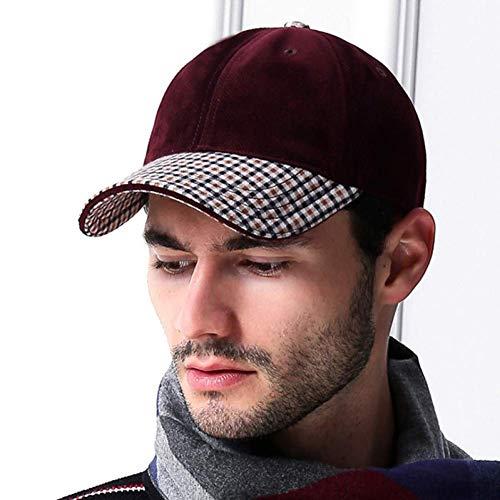 ZBCOO Vintage Plaid Wildleder Cap Luxusmarke Herren Baseball Caps Russland Outdoor Papa Hüte Mann Golf Sport Hut -
