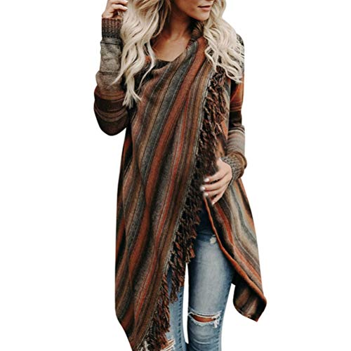 Bluelucon Damen Mantel, Kapuzenjacke Elegant Winter Hoodie Pullover Strickjacke Winterjacke Frauen Warmer Langarm Patchwork Sweatshirt mit Kapuze